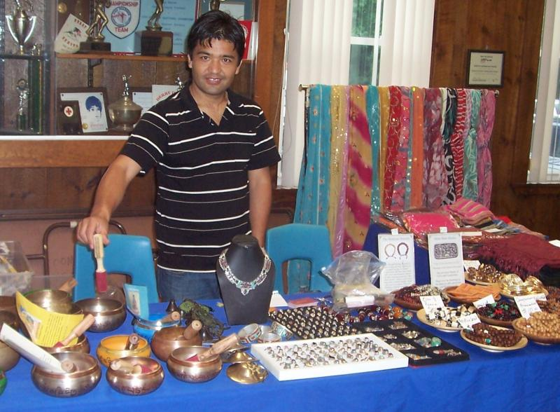 Tibet Arts.one of our many exhibitors with their wonderful assortment of ware